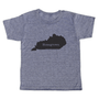 """grey t-shirt with black lettering - state of kentucky with """"homegrown"""" written in the middle"""