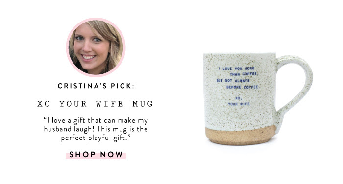 I love a gift that can make my husband laugh! This mug is the perfect playful gift!