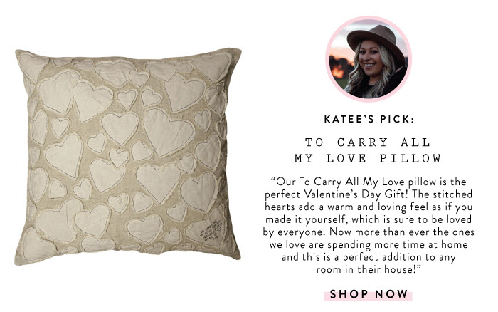 Our To Carry All My Love pillow is the perfect Valentine's Day gift! The stitched hearts and a warm and loving feel as if you made it yourself, which is sure to be loved by everyone. Now more than ever the ones we love are spending more time at home and this is the perfect addition to their house.