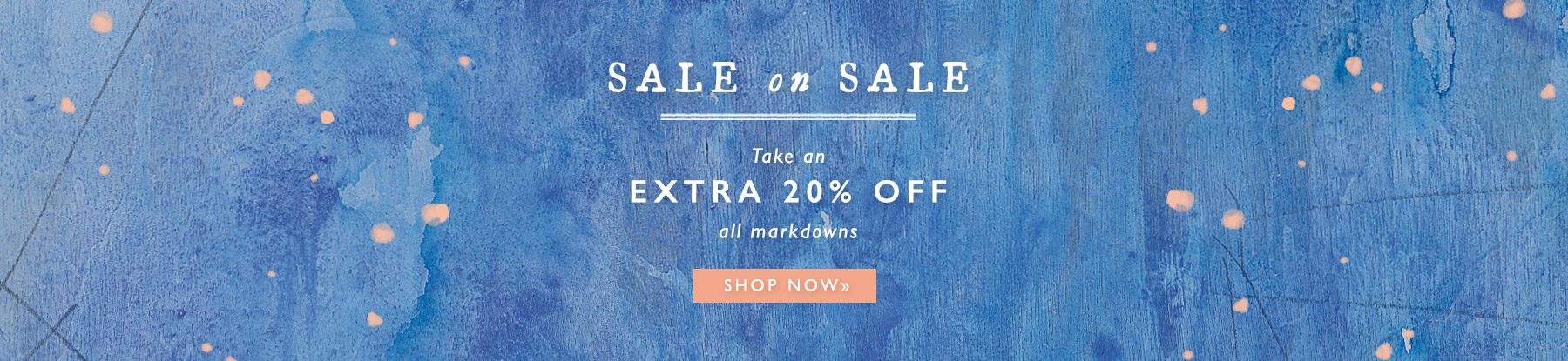 Take an extra 20% off all sale. Click to shop.