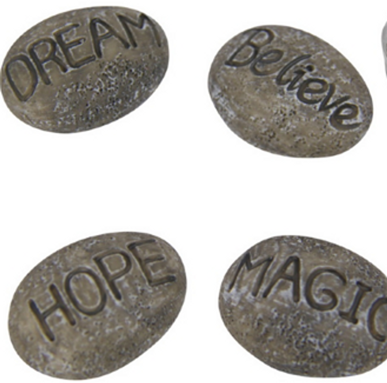 Rock with Wording