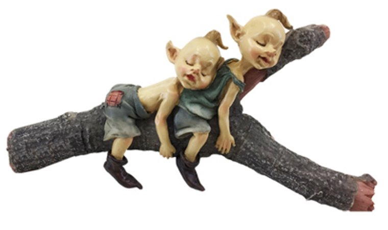Elves Sleeping on Branch