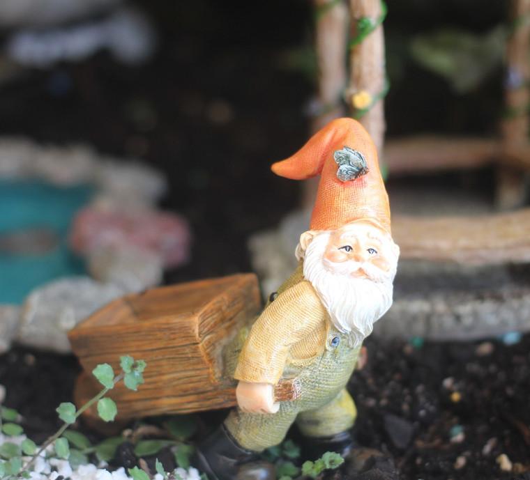Gnome and Wheelbarrow