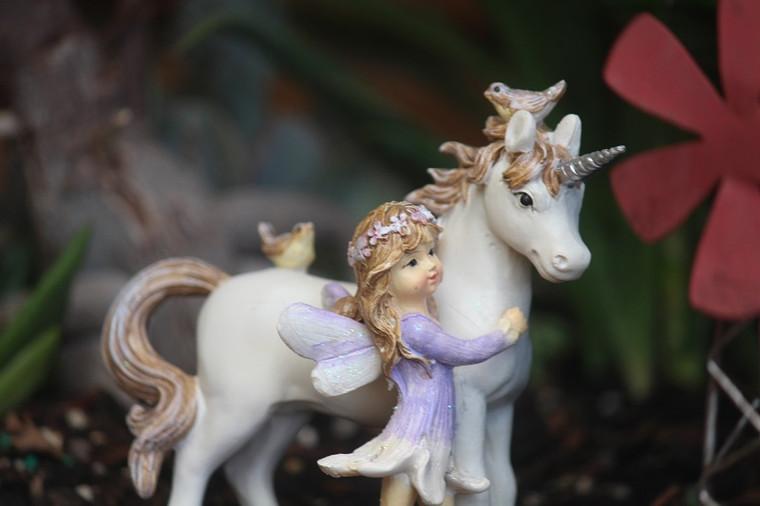 Fairy with her Unicorn
