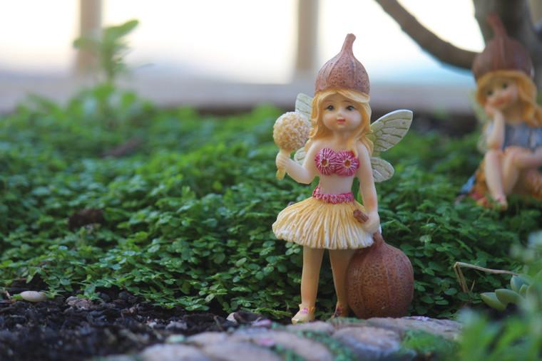 Gumnut Fairy holding Wattle