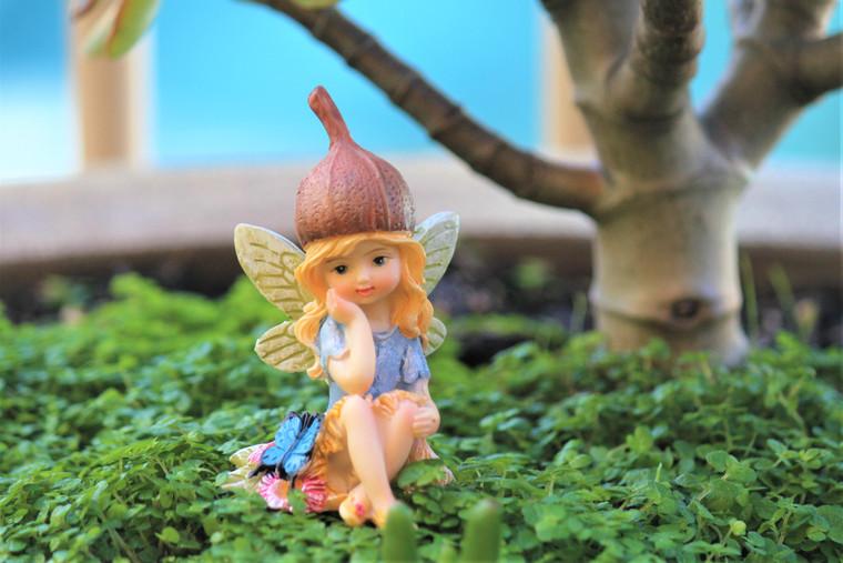 Gumnut Fairy with Buttlerfly friend