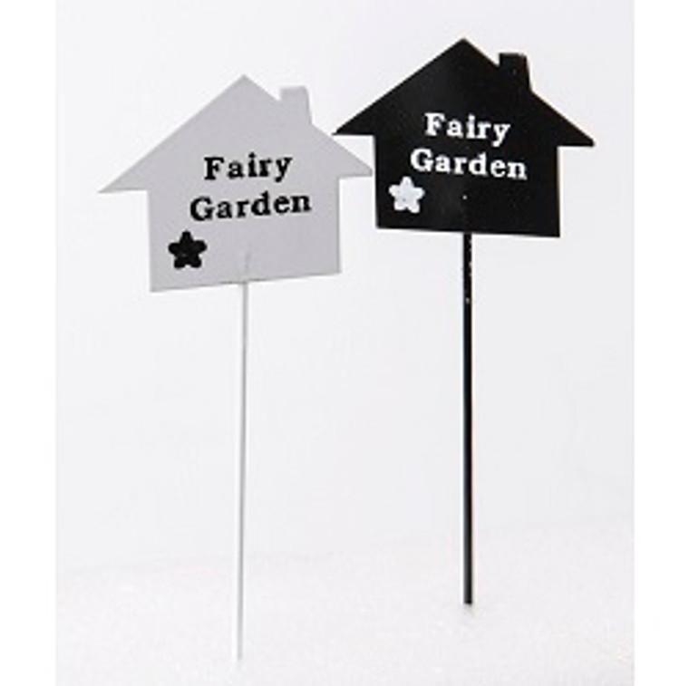 Metal Fairy Garden Sign