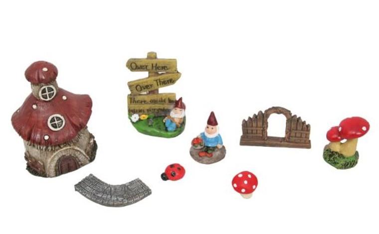 Gnome Fairy Village Set