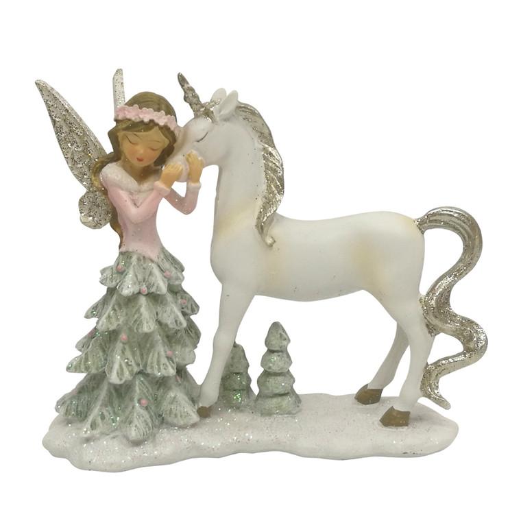 Snow Fairy with Unicorn