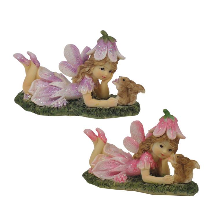 Flower Garden Fairy with Squirrel