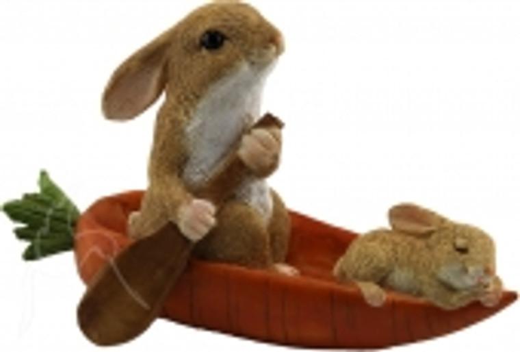 Rabbit in Carrot Boat