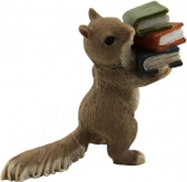 Squirrel with book