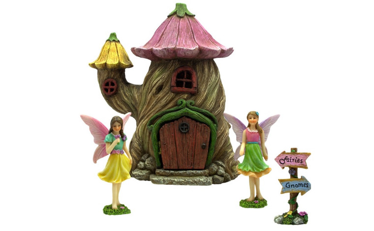 Fairy Garden Flower House Set