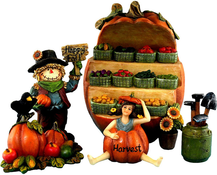 Pumpkin Fairy House Set