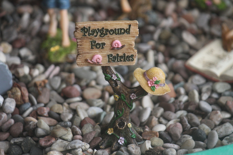 """Sign """"Playground for Fairies"""""""