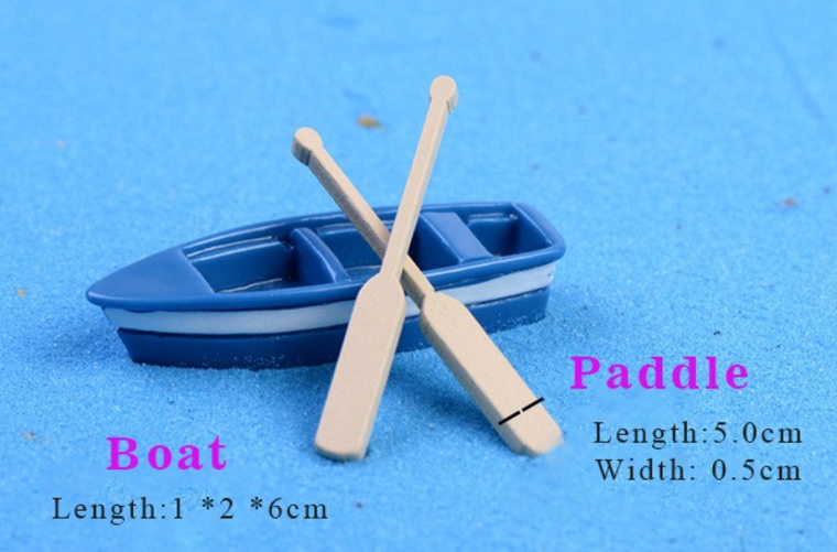 Boat with paddle