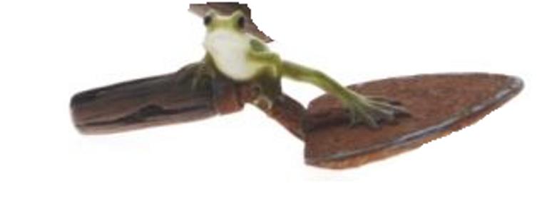 Frog on Shovel