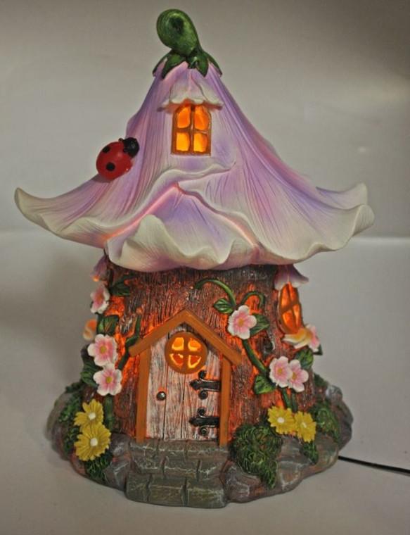 Purple Flower House Night Light