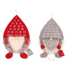 ADVENT - GNOME ELF WALL CALENDAR - 55CM - RED HAT