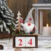 ADVENT - GNOME ELF COUNT DOWN CALENDAR - Grey - 15CM Christmas Decoration