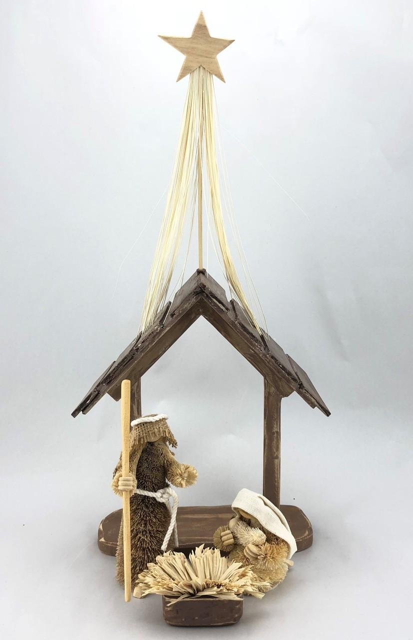 BB-Traditional Nativity Scene - BRISTLEBRUSH Christmas Decoration