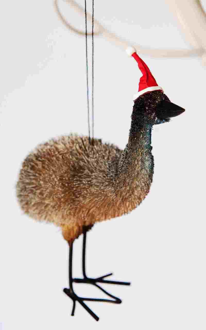 Extra Large Emu Christmas Tree Ornament - Bristlebrush - 15cm Beautifully Hand made and all natural Extra Large Emu Christmas Tree Ornament.