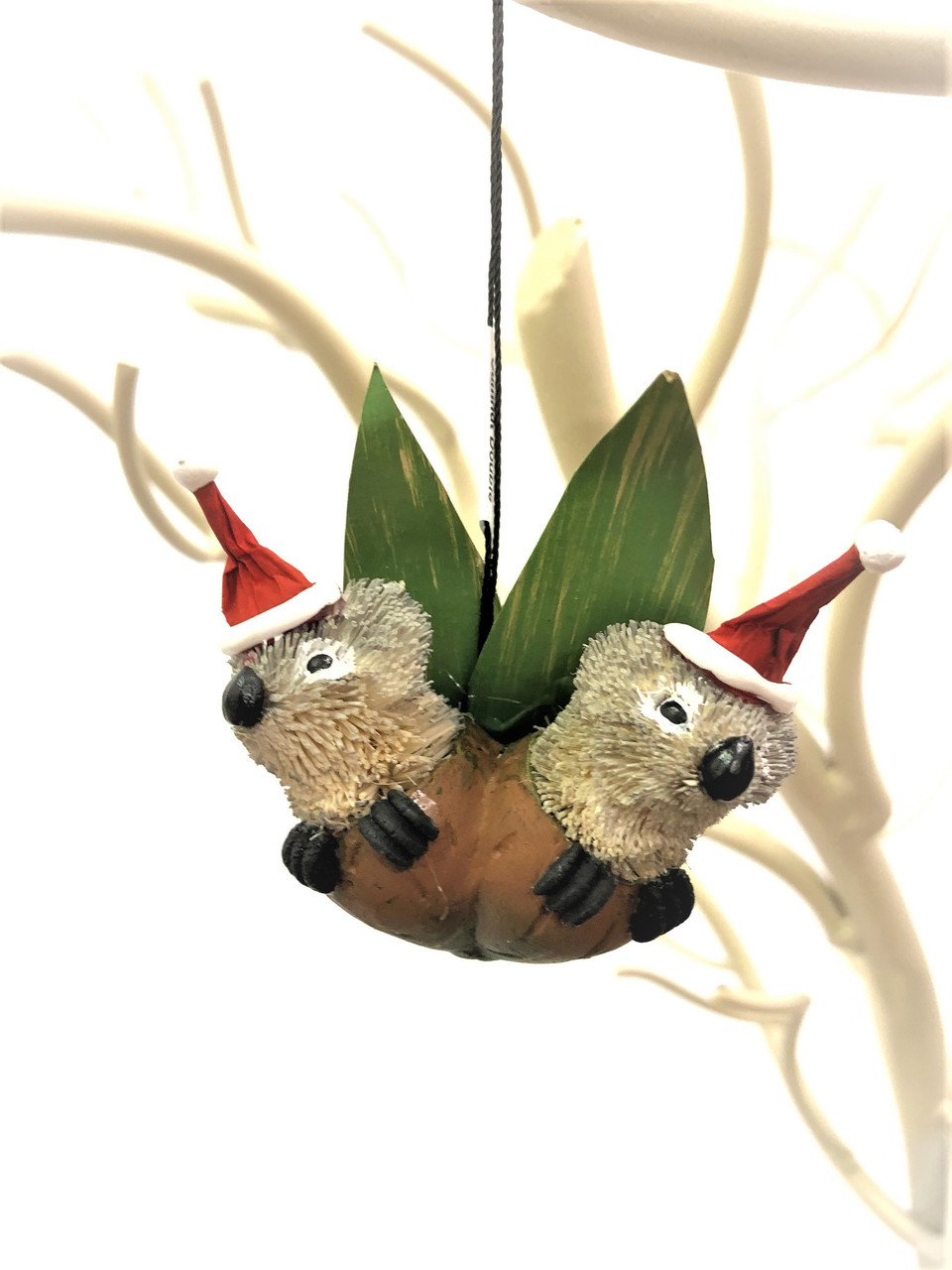 Christmas Tree Ornament - Double Gumnut Baby - 8cm  Beautifully handcrafted Aussie Animal Christmas Tree ornaments