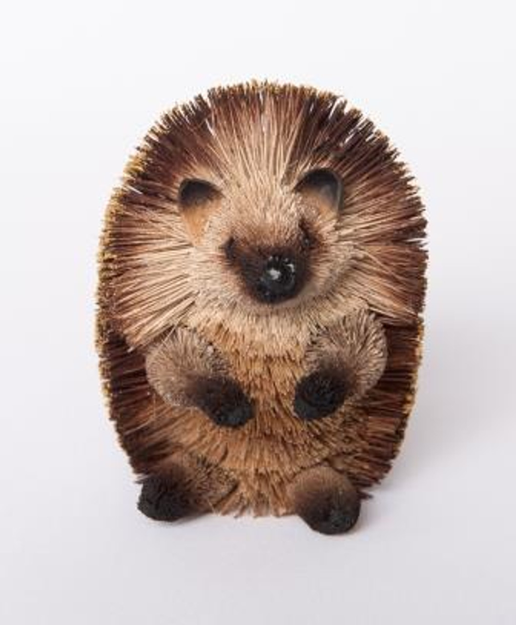Beautifully Handcrafted, Handmade and all Natural Hedgehog sitting up. Medium size 15cm