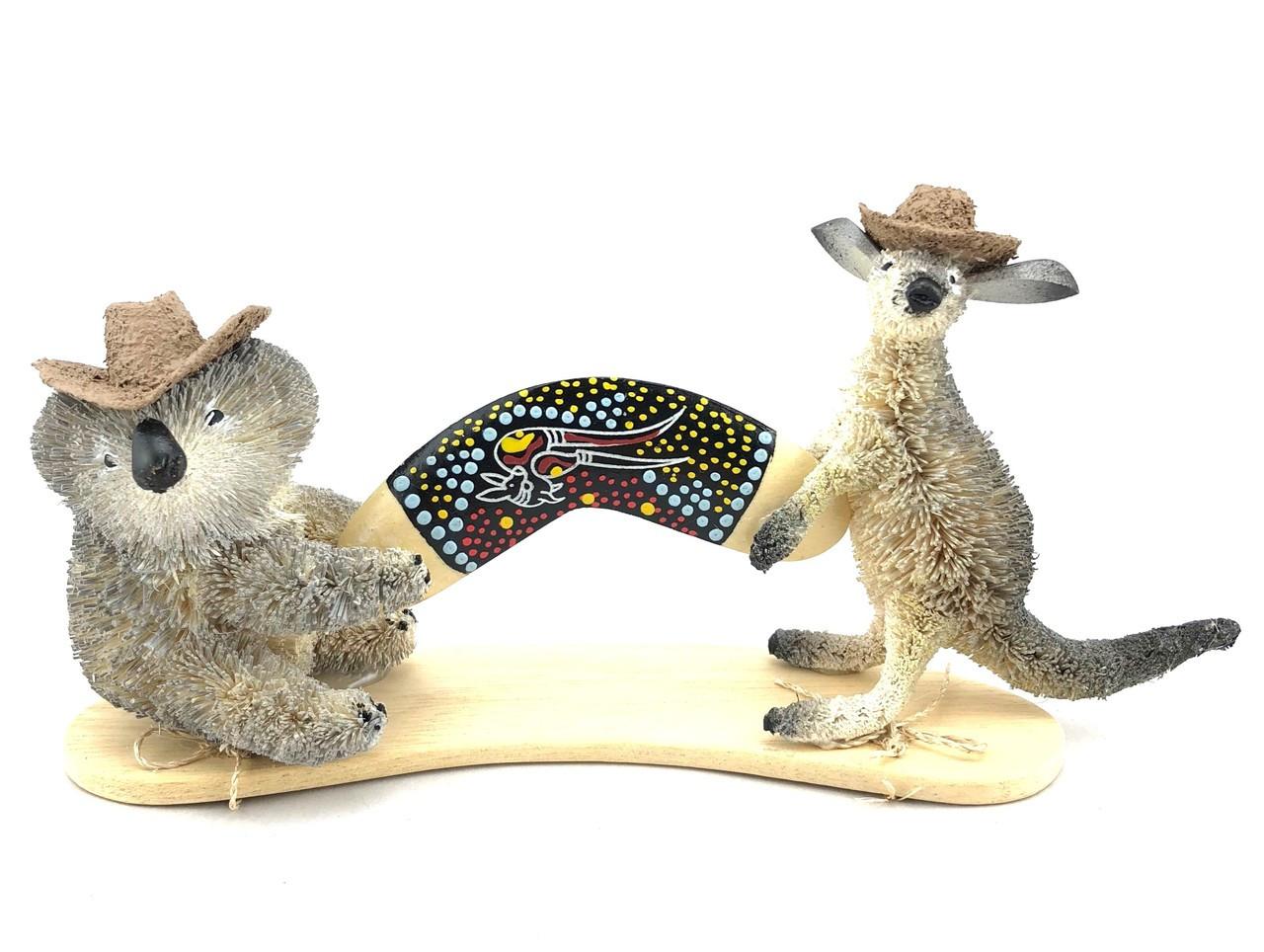 Aussie Kangaroo and Koala Boomerang 9cm high x