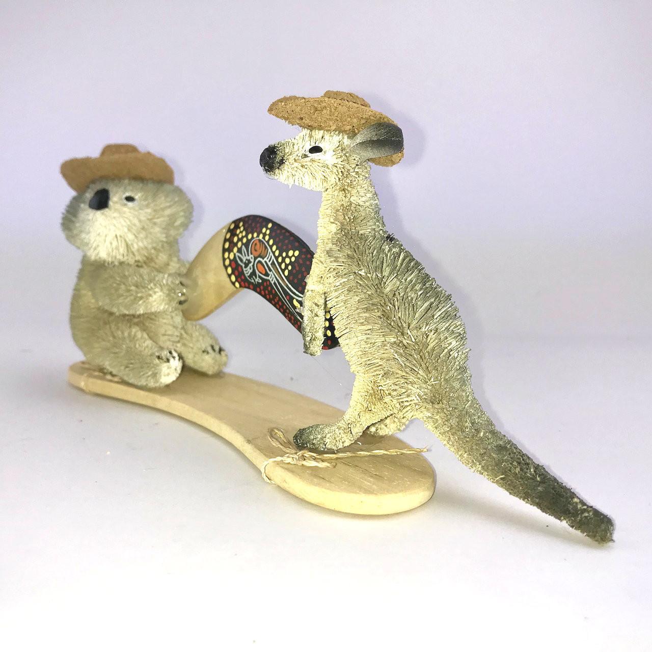 Kangaroo and Koala with Boomerang