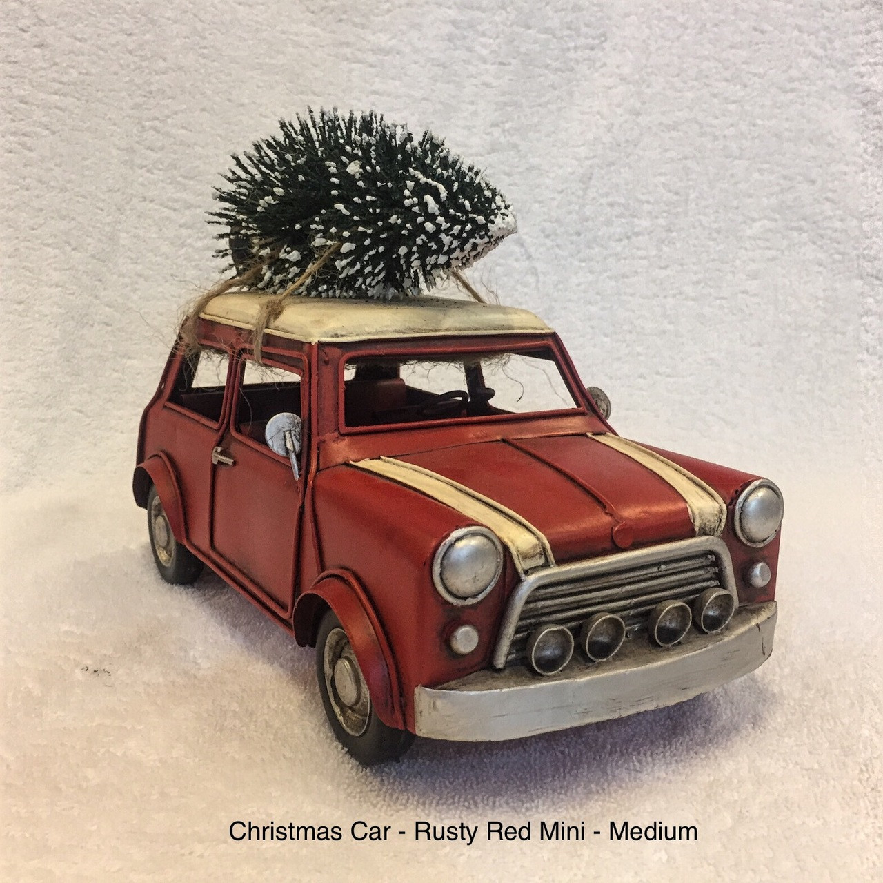 CHRISTMAS CAR - RUSTY RED MINI - LARGE Christmas Decoration