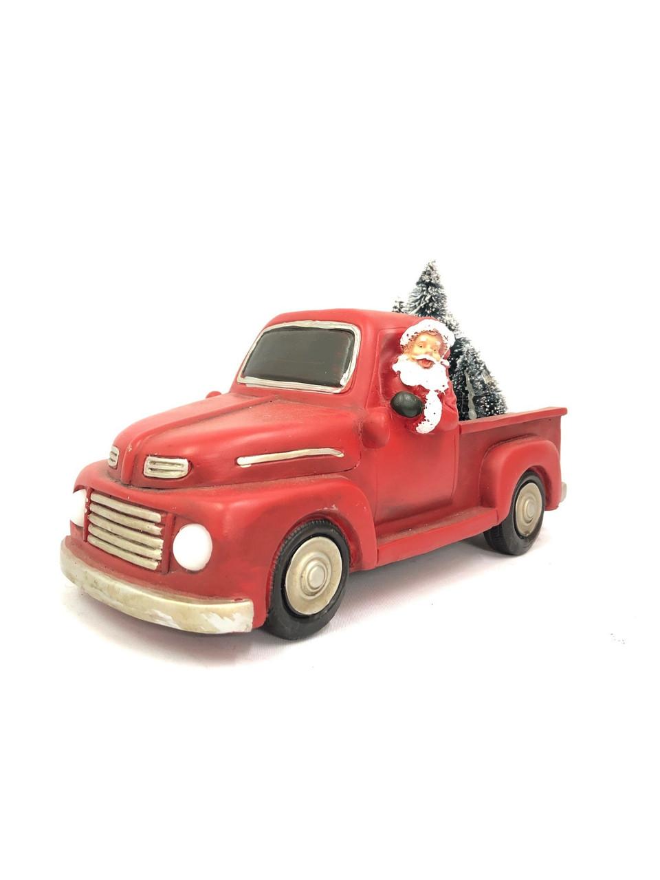Beautifully Designed Resin Christmas Truck - 25cm