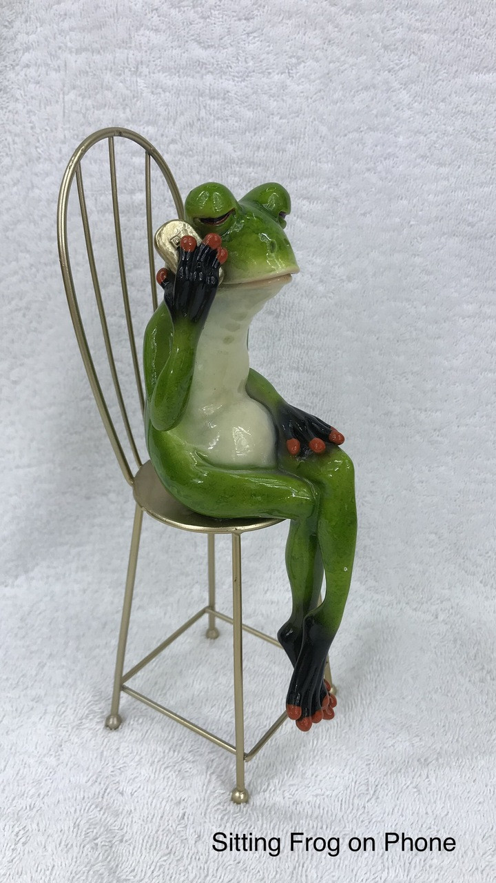 CHEEKY FROG ON SEAT - WITH MOBILE