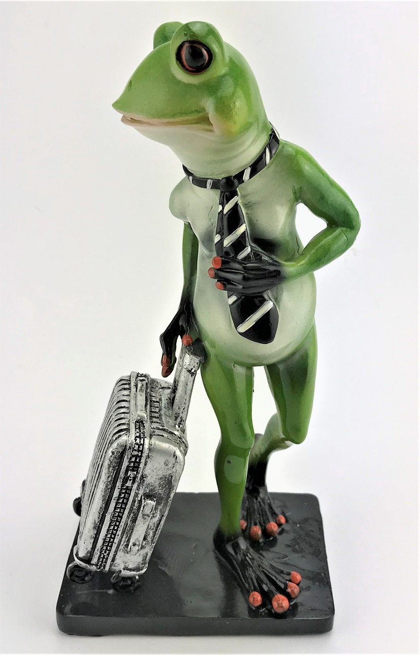 Cheeky Frog - with Suit case and Tie