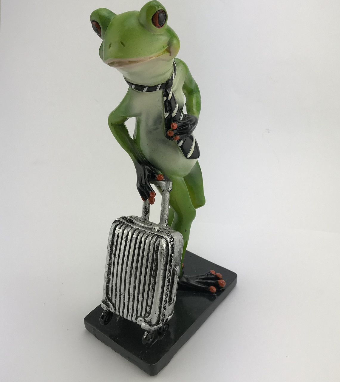 CHEEKY FROG ON STAND - WITH SUITECASE AND TIE