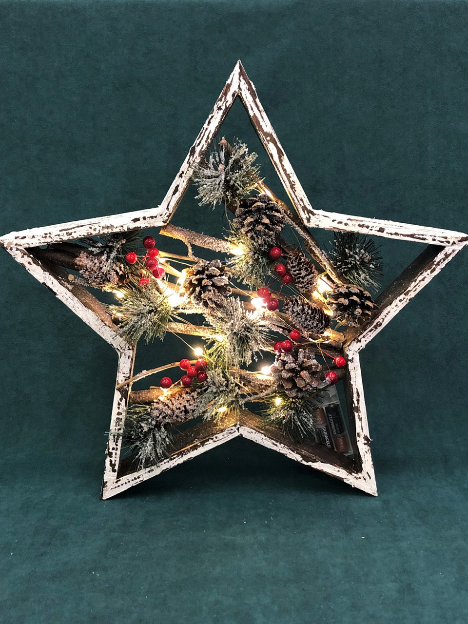 Large Boxed Christmas Star with Lights - MEDIUM - 36CM