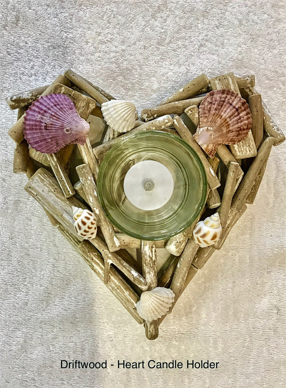 Single Candle Holder - Heart