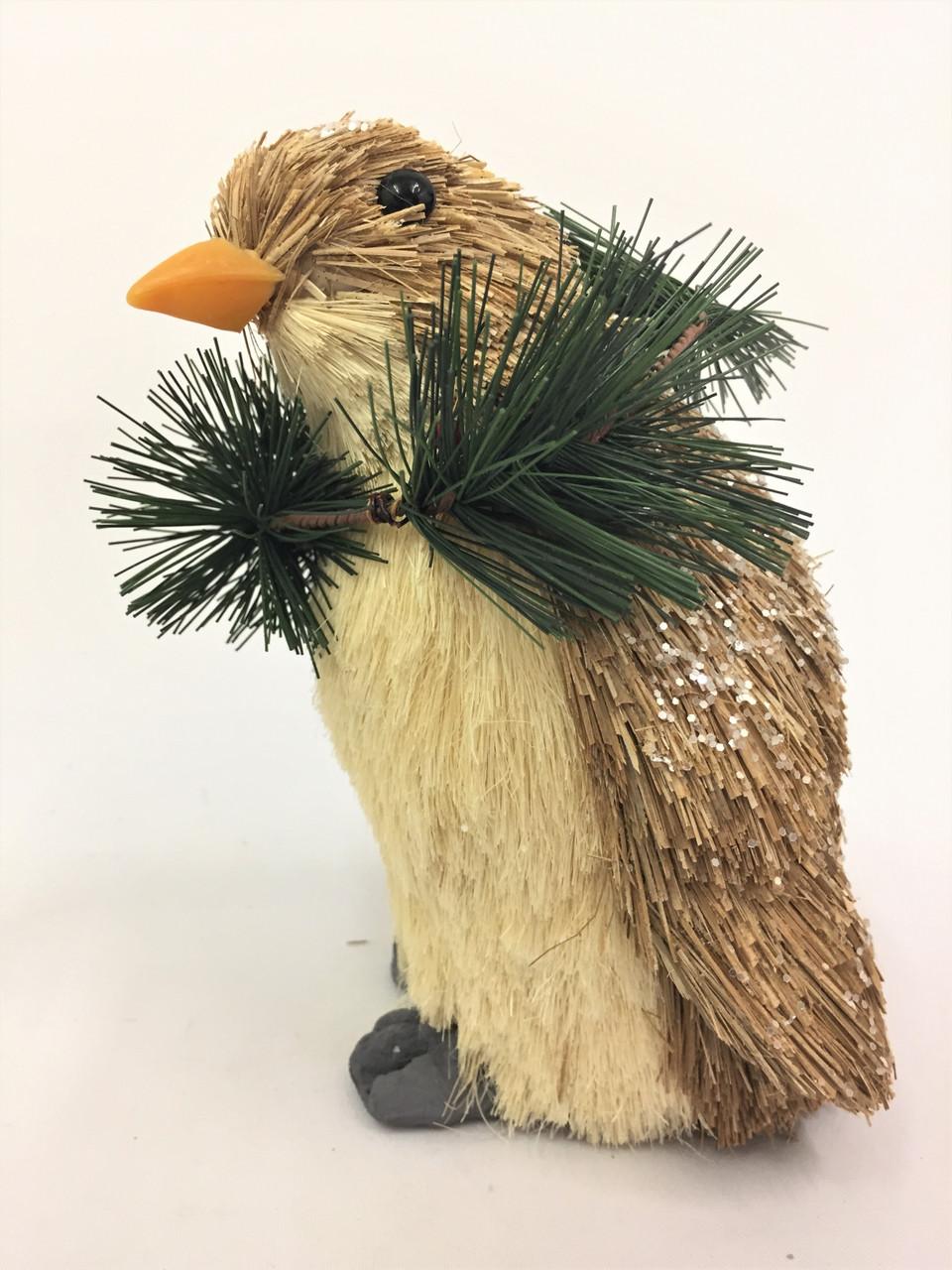 BBS-CHRISTMAS PENGUIN - (LARGE) 21CM BRISTLESTRAW  Christmas Decoration