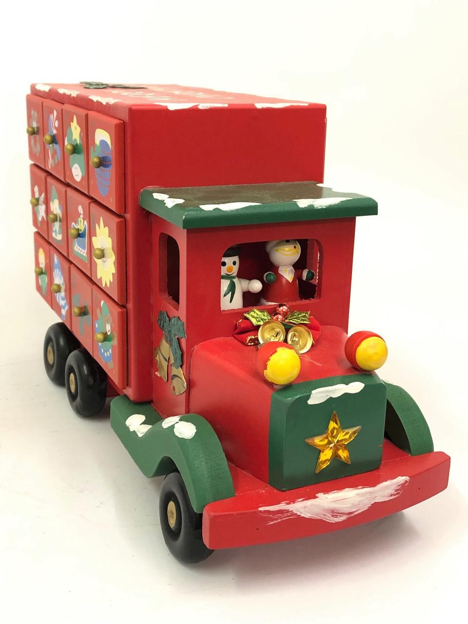 CHRISTMAS ADVENT CALENDAR - ROLLING TRUCK 39CM Christmas Decoration