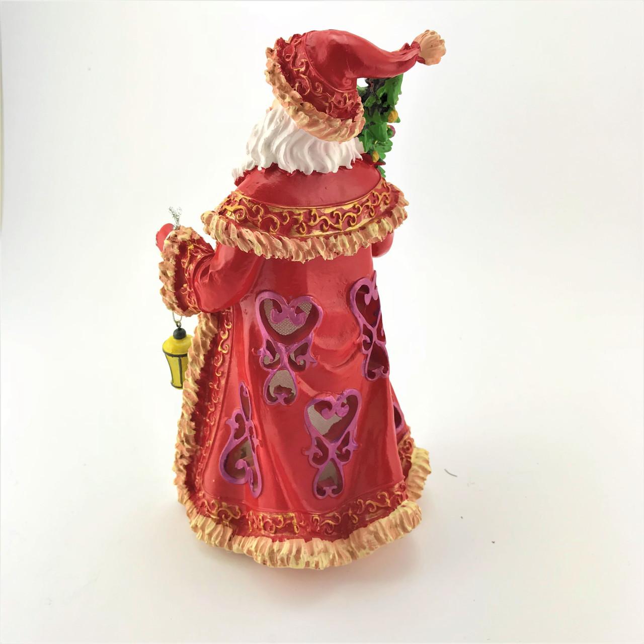CHRISTMAS - RESIN LIGHTUP CLASSY SANTA - 25CM Christmas Decoration
