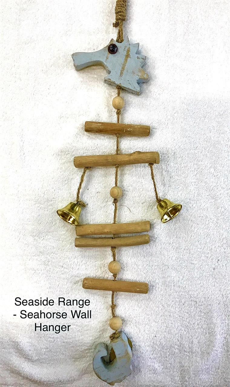 Seaside - Seahorse Wall Hanger - 65cmy