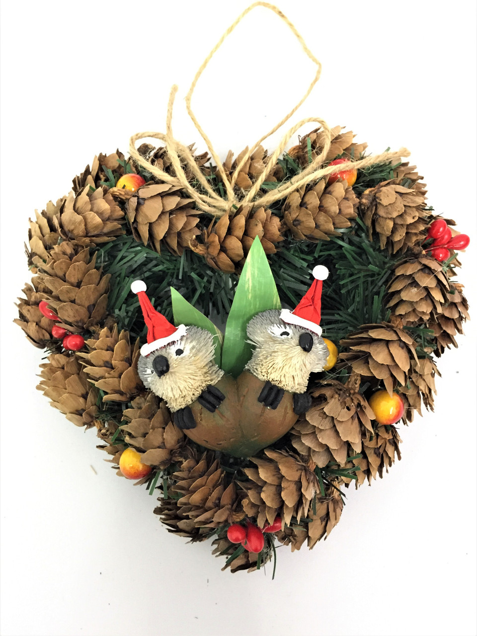 BBW-GUMNUT BABY CHRISTMAS PINECONE WREATH - 14CM Christmas Decoration