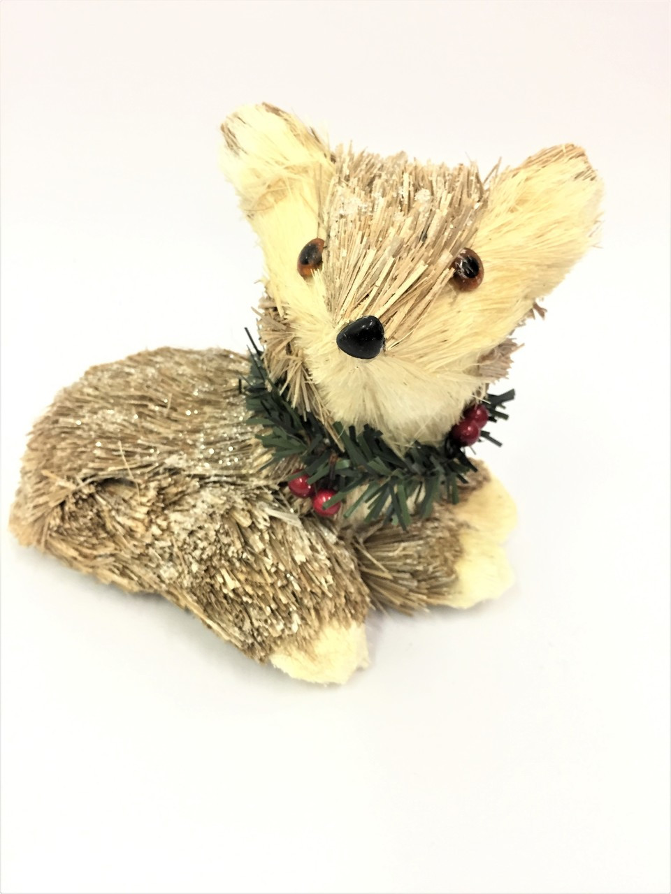 Beautifully Designed and Hand Made Christmas Bristlestraw Fox - 20cm wide