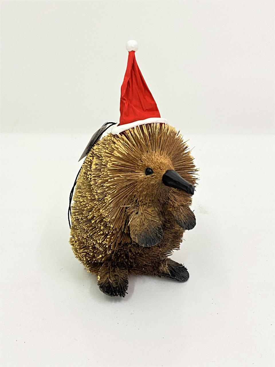 AUSSIE CHRISTMAS MANTLE SET - KANGA, EMU, ECHIDNA - 13cm BRISTLEBRUSH Christmas Decoration