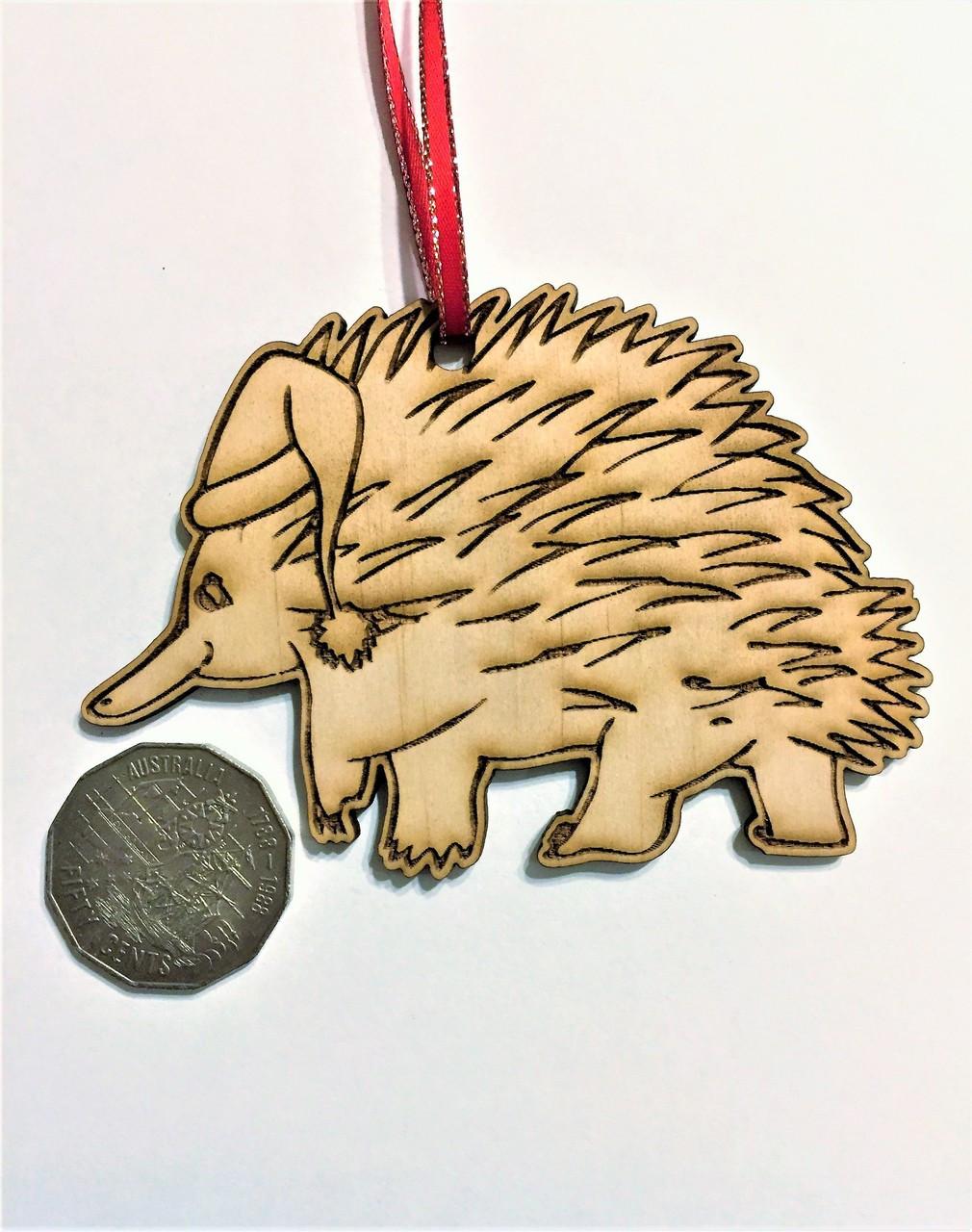D-Echidna - Wooden Christmas Tree Ornament