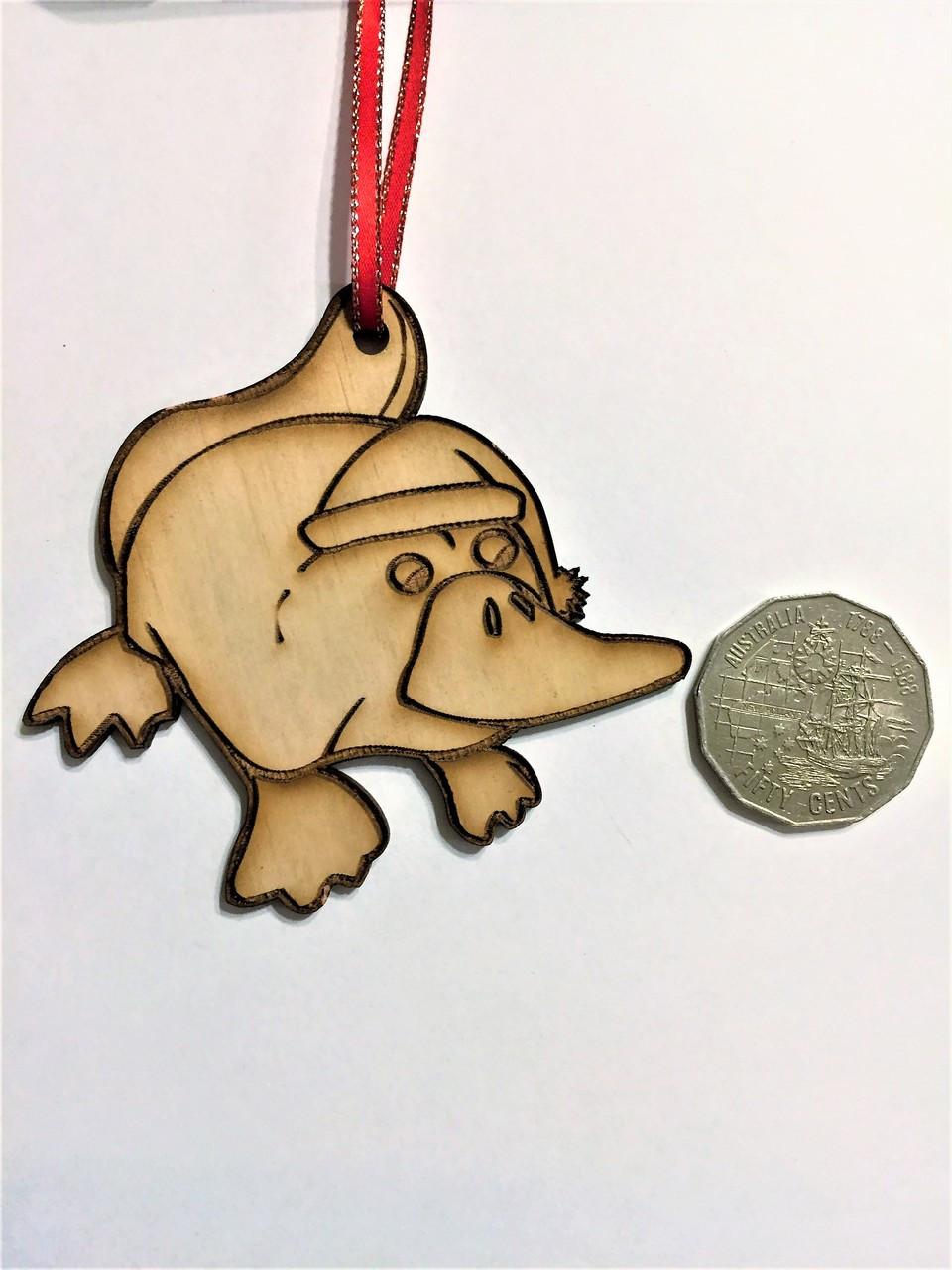 D-Platypus - Wooden Christmas Tree Ornament