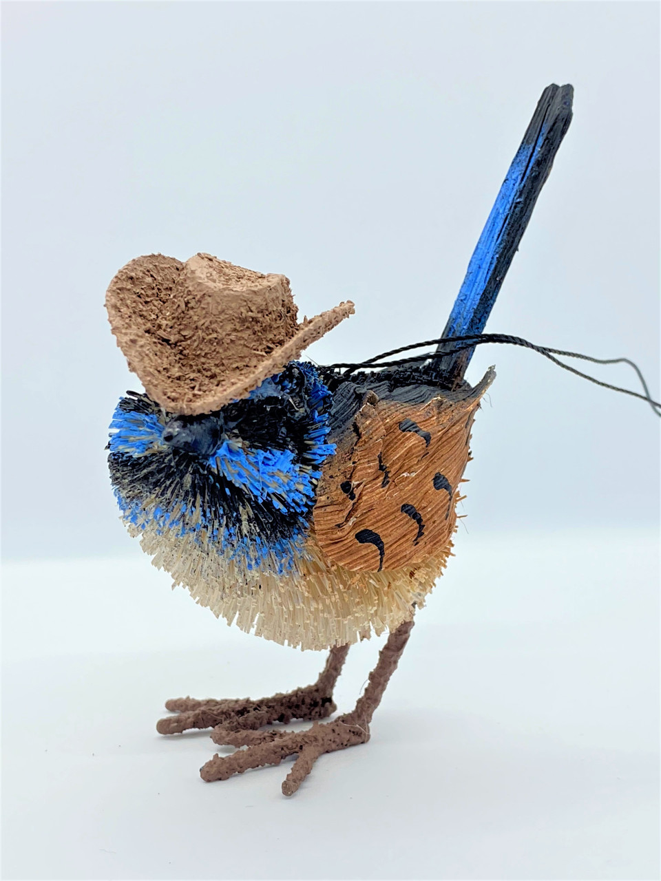 Gorgeous Aussie Akubra Blue Wren! Beautifully Designed and Crafted!