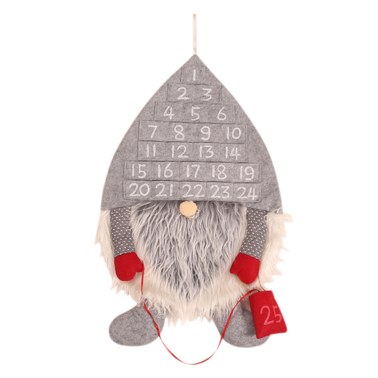 Gorgeous Elf Christmas Advent Calendar - Wall hanging. Material 55cm