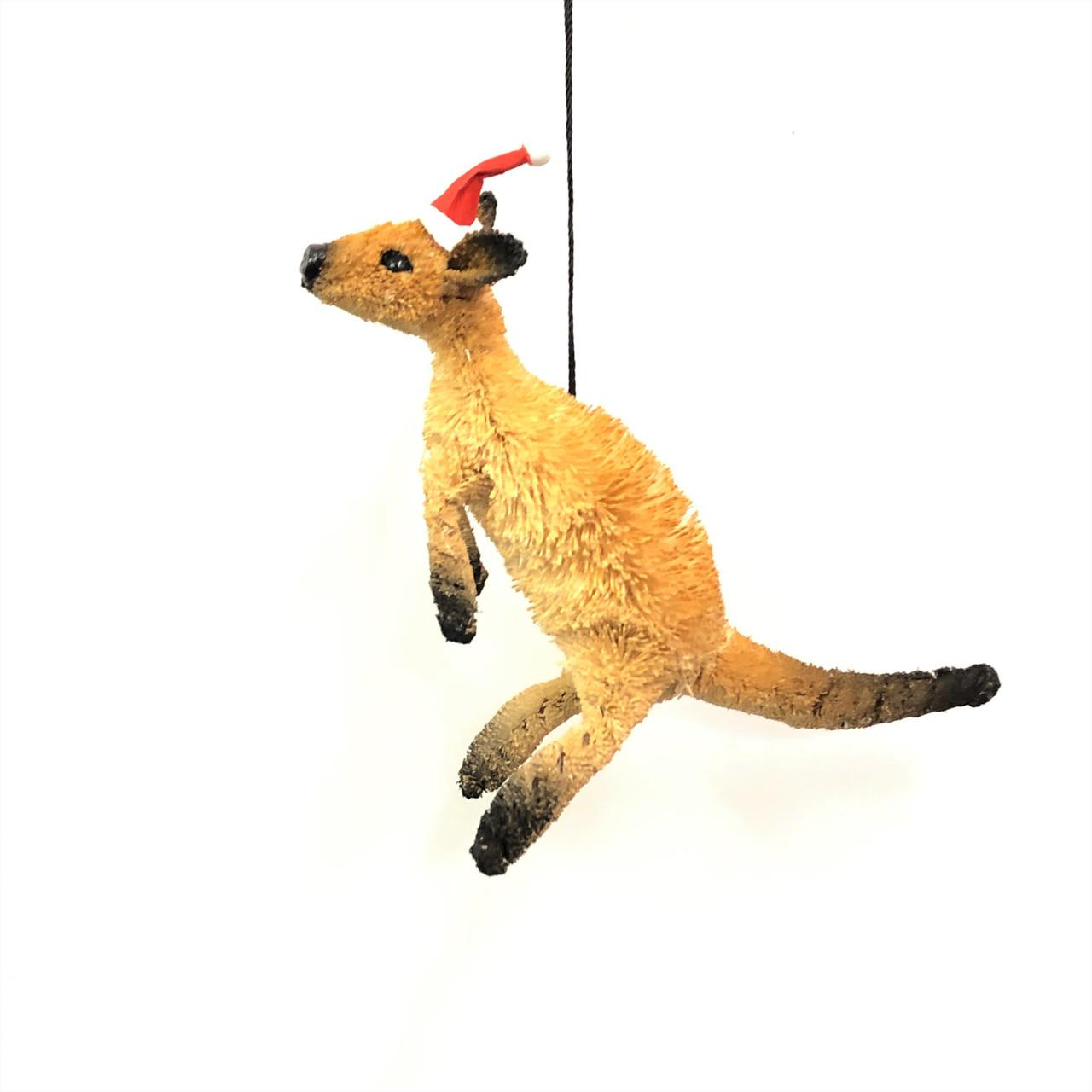 Christmas Tree Ornament - Kangaroo 10cm  Beautifully handcrafted Aussie Animal Christmas Tree ornaments
