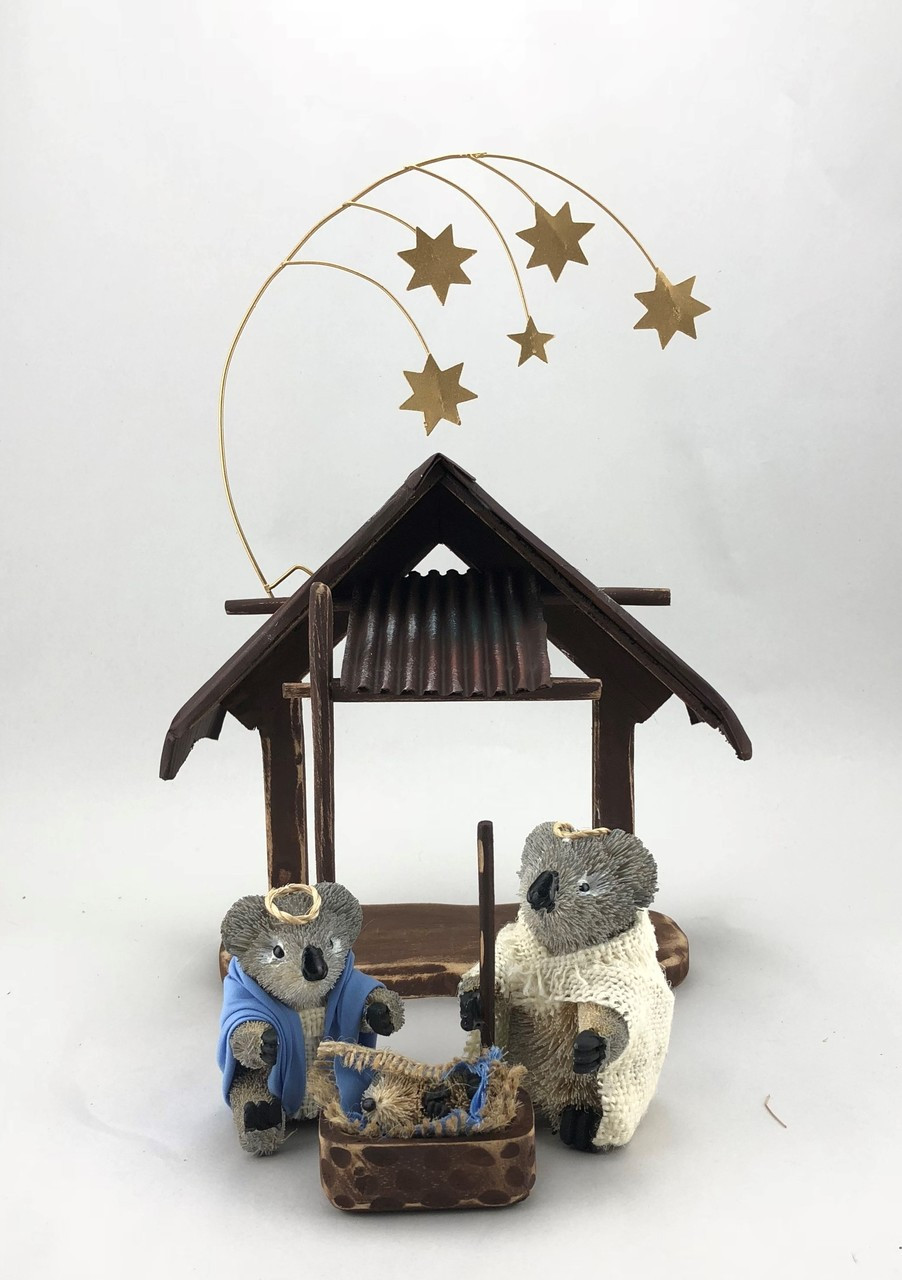 bb-AUSTRALIAN NATIVITY SCENE - Christmas Decoration